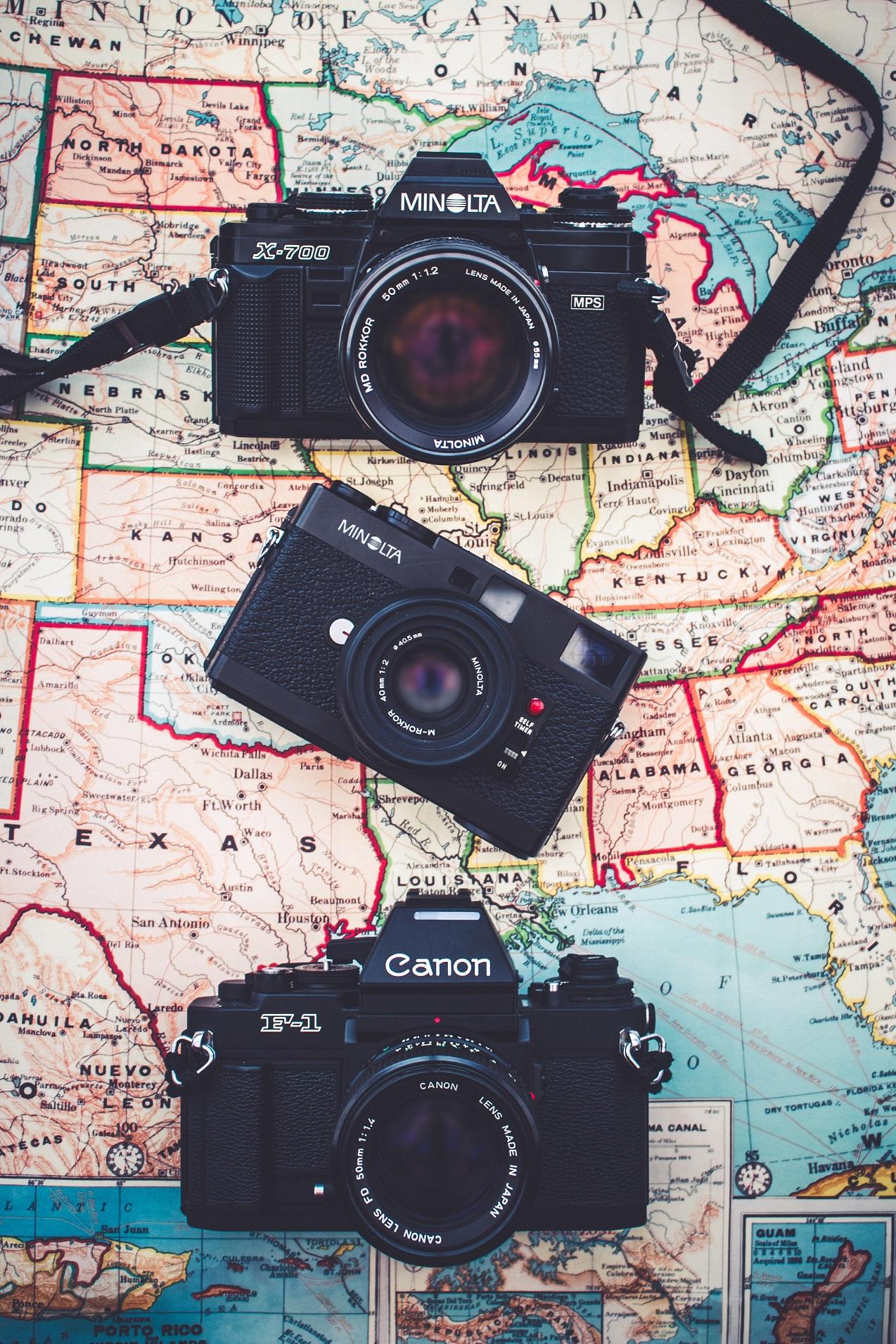 地図とカメラの画像