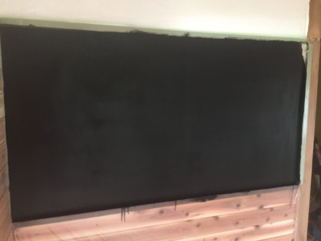 古民家改装DIYチョークボードペイントで黒板を作る!